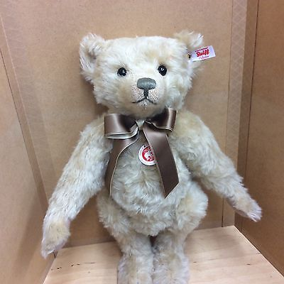 Steiff British Collector's Bear 14.5 Inch Jointed Mohair L/e 2000 New For 2017