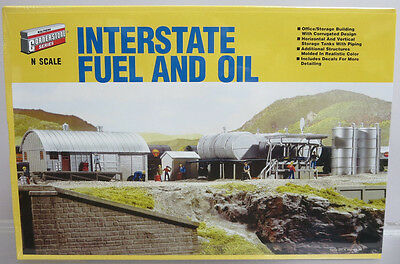 Walthers Cornerstone 933-3200 Interstate Fuel & Oil N Scale Building Kit MIB