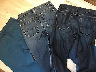 """Lot of 3: Mens 7 Seven For All Mankind """"Standard"""" Jeans (31x34)"""