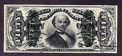 """US 50c Fractional Currency 5th Issue w/""""1"""" FR 1341 VF-XF appr"""