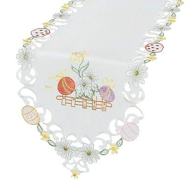 """Xia Home Fashions Country Egg 15"""" by 72"""" Easter Table Runner"""