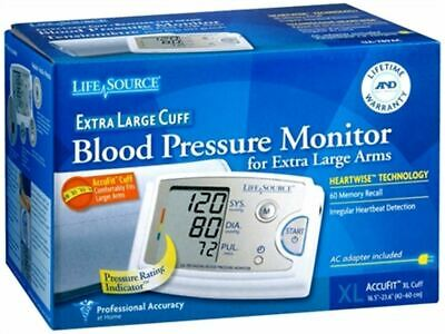 Lifesource Blood Pressure Monitor, Accufit Extra Large Cuff- 1 Each