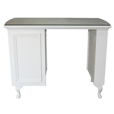 Manicure Desk with moulded panel front Shabby Chic - supplied with glass top