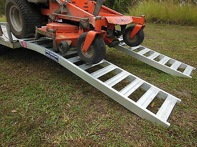1 Tonne Capacity Curved ZeroTurn Mower Loading Ramps 2 metres l x 390mm wide