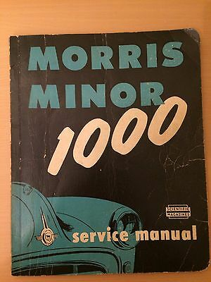 Morris Minor 1000 Service Manual & Lubrication Chart. 1962.scientific Magazines