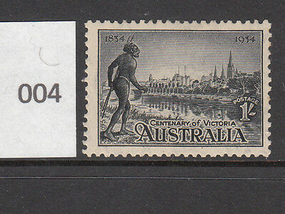 1934 1- Centenary of Victoria Perf. 11.5 Mint Lightly Hinged.