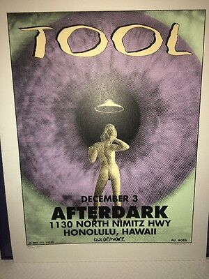 Tool Rock Poster Signed  By M Getz 1994