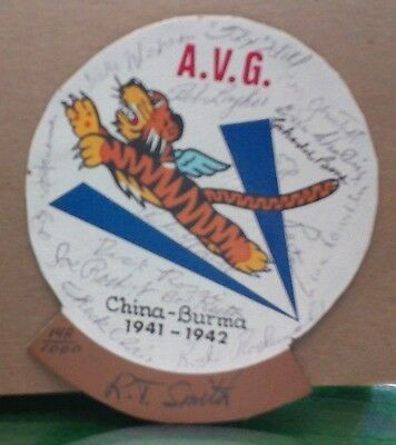 Aviation WWII Reproduction Patch from the A.V.G. singed by 15 Aces