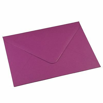 25 C6 PURPLE Coloured Envelopes for Cards A6 - Craft Wedding Greeting