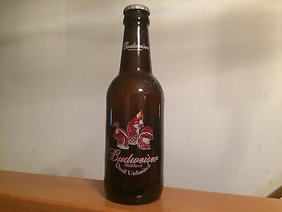 Budweiser Official Beer of Quail Unlimited 64 Oz Glass King Pitcher