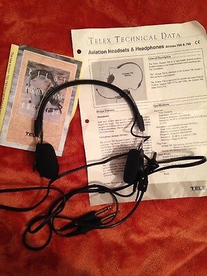 Telex Airman 750 Aviation Headset General Aviation Pin Tested And Working