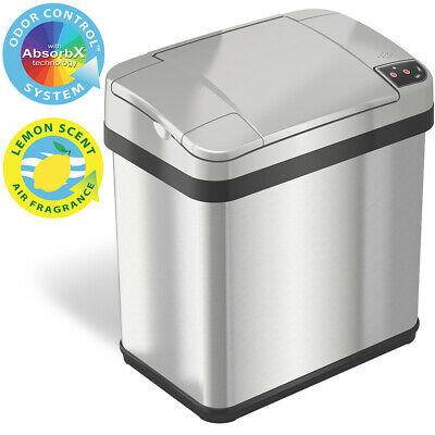 2.5 Gallon Automatic Sensor Can Stainless Steel Touchless Bathroom Home Office