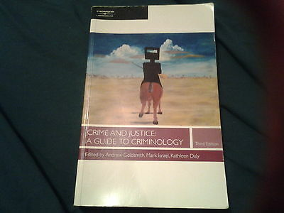 Crime and Justice: A Guide to Criminology by Law Book Co of Australasia...