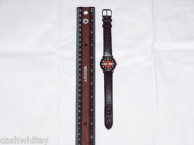 RARE HARLEY DAVIDSON MOTORCYCLES BAR SHIELD Men Gents Wrist Watch & Leather Band