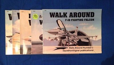 5 Walk Around Squadron Signal Publications Airplane Books Hobby Models Nos. 1-5