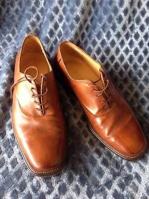 Johnston Murphy Men's Oxfords Dress Shoes Brown Leather Size 9 Italy