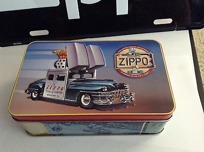 1998 Zippo Car COTY Employee Only Mint In Tin With Key Chain