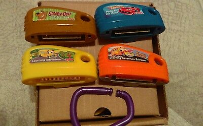 4 Fisher Price Smart Cycle Game Cartridge Lot learning adventure hot wheels cars