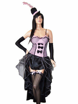 Ladies Costume Fancy Dress Up Burlesque Showgirl Outfit size 8-10