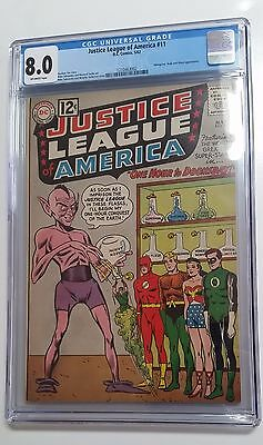 Justice League of America #11 (1962) CGC 8.0 VF off-white pages early JLA!