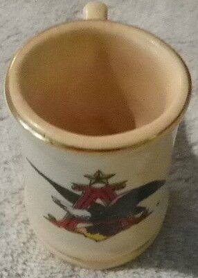 "Budweiser Anheuser Collectible Mini Stein Mug Cup 2-3/4"" tall with Gold Trim"