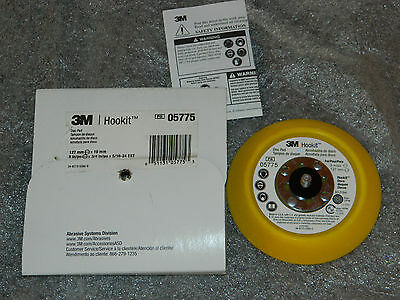 "NEW 3M 05775 HOOKIT 5"" x 3/4"" DISC PAD HOOK & LOOP ATTACHMENT 12,000 MAX RPM"