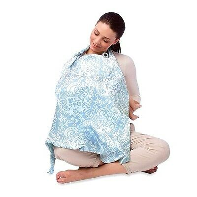 NEW Boppy Nursing Cover in French Swirl Blue FREE SHIPPING