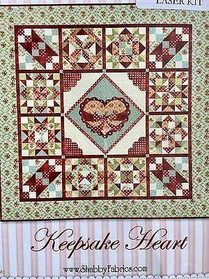 "Quilt Kit Keepsake Heart Kit BOM 64"" x 64"""