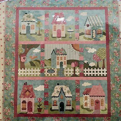 """Welcome Home in Spring Quilt Kit Block of the Month 56.5"""" x 64.5"""""""