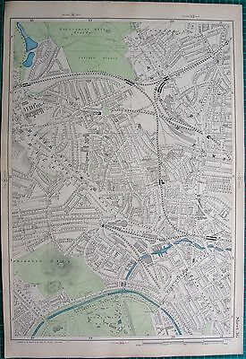 1906 Large Map-Bacon 9 Inch - Kentish Town, Camden Town