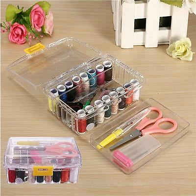 40Pcs Sewing Kit Storage Box Thread Threader Needle Tape Measure Scissor Thimble