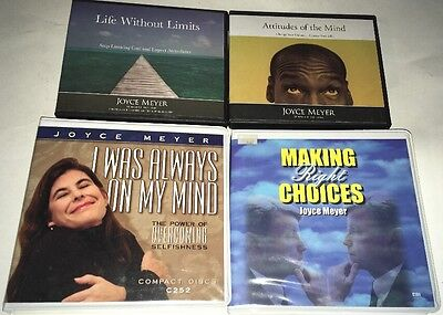 Lot of 4 Audiobooks by Joyce Meyer  Life without Limits - Making Right Choices -