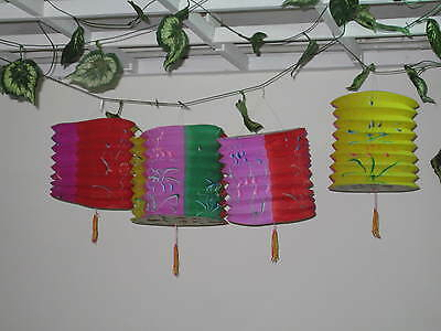 12 pcs - Chinese Traditional Paper Lanterns (Assorted Flowers)