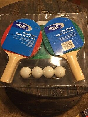 MTA Sport- Four Player Table Tennis Ping Pong Set, Net And Net Posts Included.