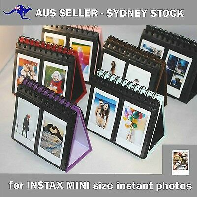 64 pocket stand up desktop calendar style Photo Album for Fujifilm INSTAX MINI 8