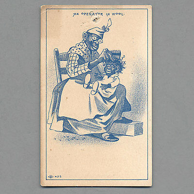 African-American Black Collectible - LESHER'S CELEBRATED OIL - 1890s Trade Card