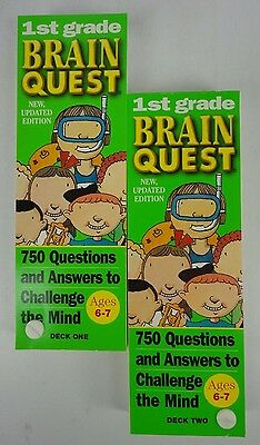 Brain Quest First Grade Two Decks With 750 Questions And Answers With Case
