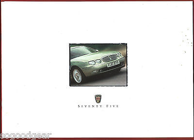 ROVER 75 SALES BROCHURE, 12 pages