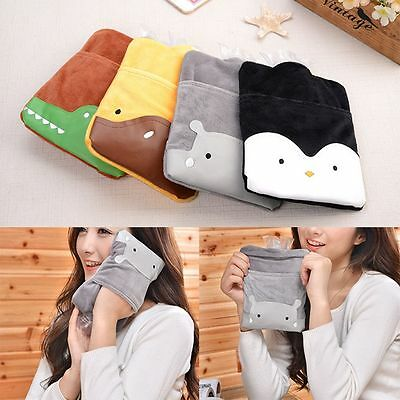 Water Bag Winter Warm Suede PVC Hot Water Bottle Hand Warmer Cartoon Hot Water