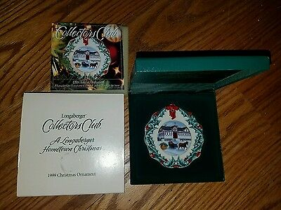 Longaberger 1999 Collectors Club Hometown Christmas Ornament