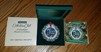 Longaberger 1997 Collectors Club Hometown Christmas Ornament