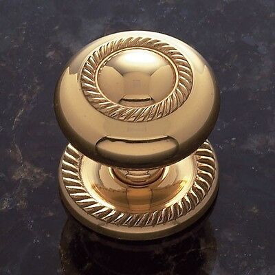 Sonoma Cabinet Hardware Solid Brass Gold Rope Design Knob with Backplate 1 1/4""