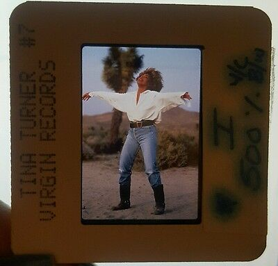 Tina Turner Transparency Slide Negative Promo Photo Virgin Records
