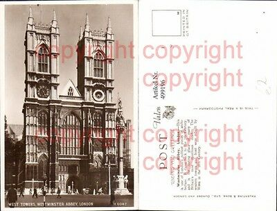 499196,London West Towers Westminster Abbey Kirche
