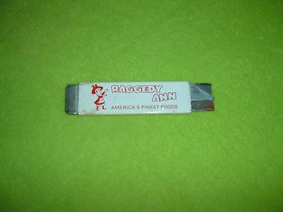Vintage RAGGEDY ANN Metal Advertising Box Case Cutter Grocery Store