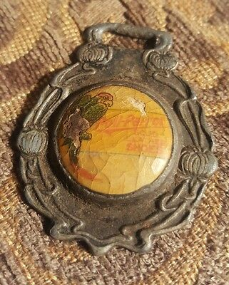 Antique WATCH FOB Star Brand Shoes Are Better- Poll Parrot Solid Leather Shoes