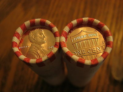 2017 P  Lincoln Cent Pennies - 2 Roll Lot- First Philadelphia Mintmark