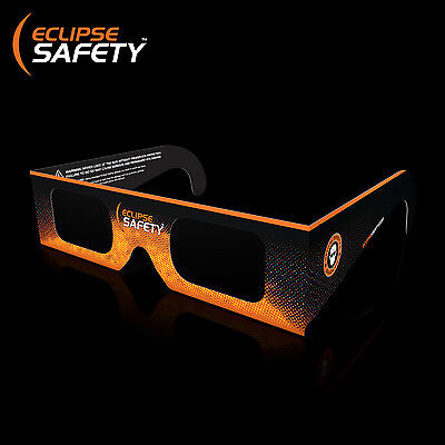Solar Eclipse Glasses - Approved Eclipse Viewing Glasses (Black/Orange)