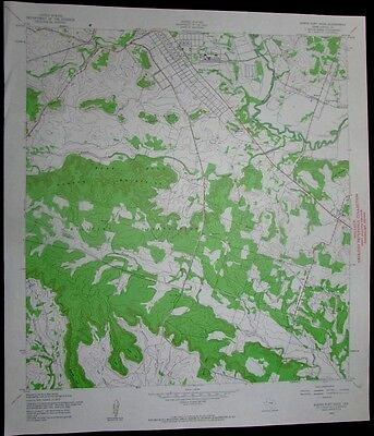 North Fort Hood Texas Military Reservation vintage 1961 old USGS Topo chart