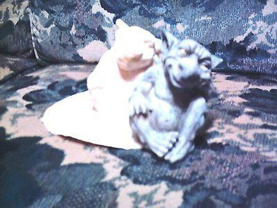 Latex Small Gargoyle Mold for Plaster or Concrete